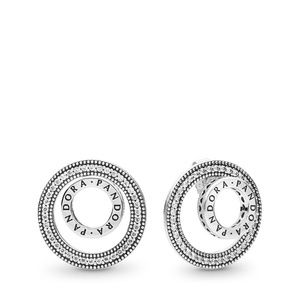 Silver Forever Signature Clear Cz Earrings